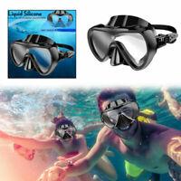 Masque De Plongée Scuba Snorkel Goggles Anti Fog Silicone Half Face Lunettes AF