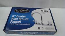 """Commercial  8"""" Center Wall Mount Faucet, 6"""" Gooseneck Spout"""
