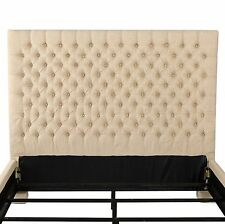 Denise Austin Home Cannes Fully Upholstered Full/ Queen Button Tufted Headboard