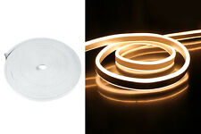 Striscia led neon 5m tubo flessibile luminoso 120led strip bobina bianco caldo