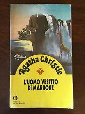 Libro giallo: L'UOMO DI MARRONE - Agatha Christie - Mondadori - 1991