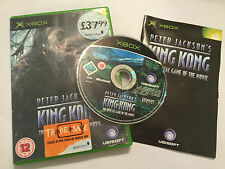 ORIGINAL PAL XBOX PETER JACKSON'S KING KONG GAME OF THE MOVIE +BOX +INSTRUCTIONS