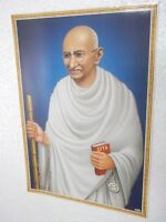 "MAHATMA GANDHI  Poster  unique nice INDIA famous personality 16""11"""