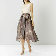 Coast Ami Roccabella Blush Bardot Cocktail Fit & Flare Full Midi Dress Size 16