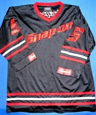 VERY COOL XL GREAT SNAP-ON HOCKEY JERSEY BLACK RED LOGO  5 NATIONAL PREMIUM 8d87cdcd6