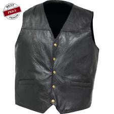 Italian Stone Design Genuine Leather Concealed Carry Vest  M - 3X