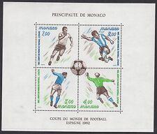 MONACO : 1982 World Cup Football Championship,Spain M/Sheet SG MS1579 MNH