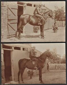 UNIDENTIFIED JOCKEY two postcards