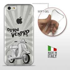 iPhone 5C TPU CASE COVER PROTETTIVA GEL TRASPARENTE VINTAGE Do You Vespa