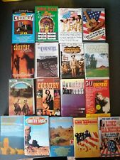 JOBLOT OF 17 COUNTRY CASSETTE TAPES