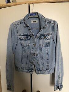 New Look Ladies Blue Denim Crop Jacket Size 8