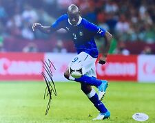 Mario Balotelli (Italy National Team) Signed 8x10 Photo JSA P55542