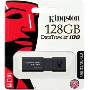 Kingston Dati Viaggiatore 100G3 128GB USB 3.1 Flash Drive 3.0 Memoria Stick-Uk