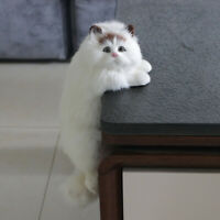 Realistic Persian Cat Plush Toy Simulation Animal Stuffed  Fluffy Doll Kids Gift