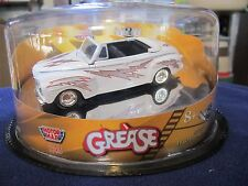 Motor Max 1948 Ford Deluxe Grease WHITE Convertible 1:43 O Scale Reel Rides RARE