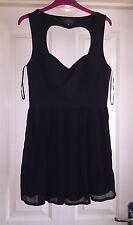 AFFAIRE cœur noir ajourées ample robe, Taille 12-Magnifique!