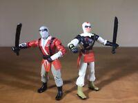2005 Vintage GI JOE Figure Lot - Slice, Slash - Ninja Battles - Cobra - gijoe