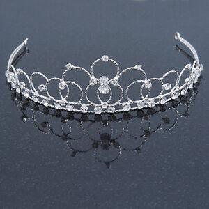 Prinzessin Brautkleid/Hochzeit/Prom Rhodium plattiert Austrian Crystal Tiara