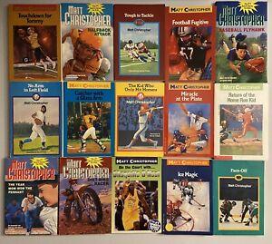 15 Matt Christopher Sports Chapter Books: Baseball, Football, Hockey & More