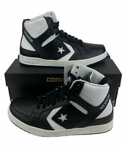NEW Converse Weapon Mid Larry Bird Basketball Shoes Black White Mens Size 9.5