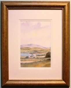 Irish Art Original Watercolour Painting CONNEMARA, IRELAND by Dennis Orme Shaw