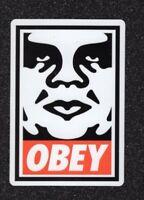 Classic Obey White/Red Vinyl Sticker