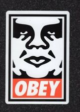 Lot of 2 Classic Obey White/Red Vinyl Stickers