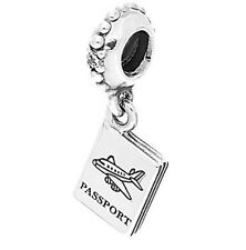 Authentic Pandora S925 Silver Adventure Awaits Passport Bead Charm 791147CZ