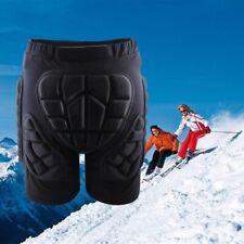 Hip Padded Shorts Skiing Skating Snowboard Motorcycle Protective Gear Black