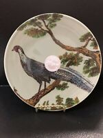 "HAND MADE IN PORTUGAL Sage LARGE 9""ROUND PLATE ""pheasant ""Very Rare"