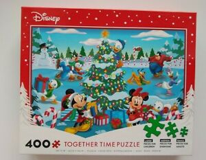 Disney 400 Piece Mickey And Minnie Mouse And Friends Together Time Puzzle New