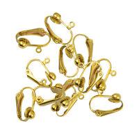 12 Stück Ohrstecker Ohrclip Clip Clip-on Ohrring Schmuckherstellung