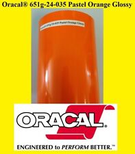 """24"""" x 10 FT Roll Pastel Orange Glossy Oracal 651 Adhesiv Cutter Plotter Sign 035"""