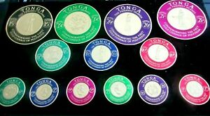 SET /13 1962 TONGA Air Mail STAMPS-Commemorating First Gold Coinage of POLYNESIA