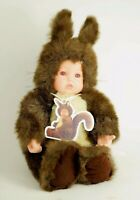 ANNE GEDDES BABY SQUIRREL PLUSH STUFFED DOLL - Baby in Squirrel Costume - 14""