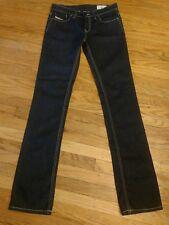 Diesel Liv Slim Straight Dark Jeans 26 X 32 EUC