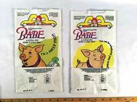 McDonalds Happy Meal Bags 1996 Babe The Pig Movie Set Of 2 Paper Bags Party Gift