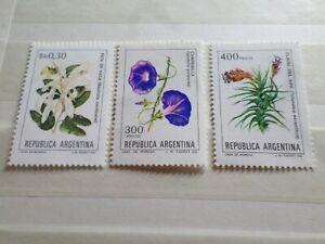 Argentina, Lote 3 Sellos Tema Flores, Flora, Nuevos; Lujo, MNH