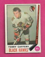 1969-70 OPC # 135 HAWKS TERRY CAFFERY ROOKIE  GOOD CARD (INV# C9163)