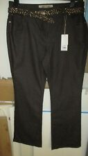 BNWT SIZE 16 MATALAN SOON BROWN BOOTCUT JEANS WITH BELT