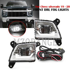 bumper LED Fog Light Lamp For Chevy silverado 2019 2020 Switch Wirting Kit DRL