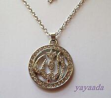 Crystal Muslim Islam Allah Pendant Rhinestone Ethnic Necklace Islamic Jewellery