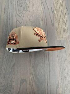 Exclusive New Era Oakland Athletics MLB club hat Size 7 1/8 Rust UV Rust Belt
