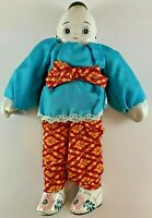 Vintage Traditional Asian Doll Porcelain Head Hands Feet