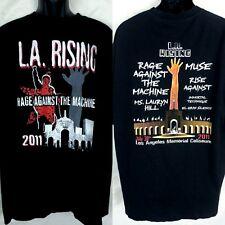 RAGE AGAINST THE MACHINE T-Shirt 2011 L.A. Rising Concert Shirt Men's 2XL Black