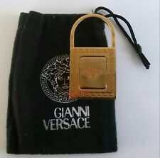 Versace High End Couture Collectible Gold Tone Metal Medusa Key Chain Authentic