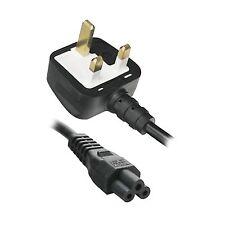10 X  2M Clover Leaf C5 Mains Power Lead 5 Amps Fuse