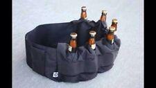 6 Pack Holster Beer Can Bottle Belt Funny Novelty Gift Item PARTY TAILGATE SKULL