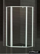 Frame Safety Toughen Glass Shower Screen 900x900mm - diamond style