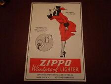 11 X 16 WINDY VARGA GIRL ZIPPO WINDPROOF LIGHTER EMBOSSED METAL SIGN MINT UNUSED